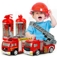 Children RC Toy Cars 1:58 Mini Model Truck Diecast Fire Trucks Toy With Remote Control Water-Tank Lorry Fire Trucks for Kids