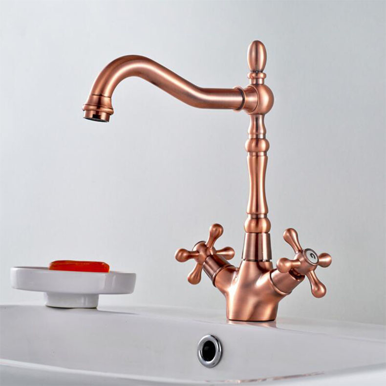 Newly Luxury Eruo Style Basin Faucet Red Bronze Polish Basin Tap Bathroom Vessel Sink Faucet Mixer FaucetNewly Luxury Eruo Style Basin Faucet Red Bronze Polish Basin Tap Bathroom Vessel Sink Faucet Mixer Faucet