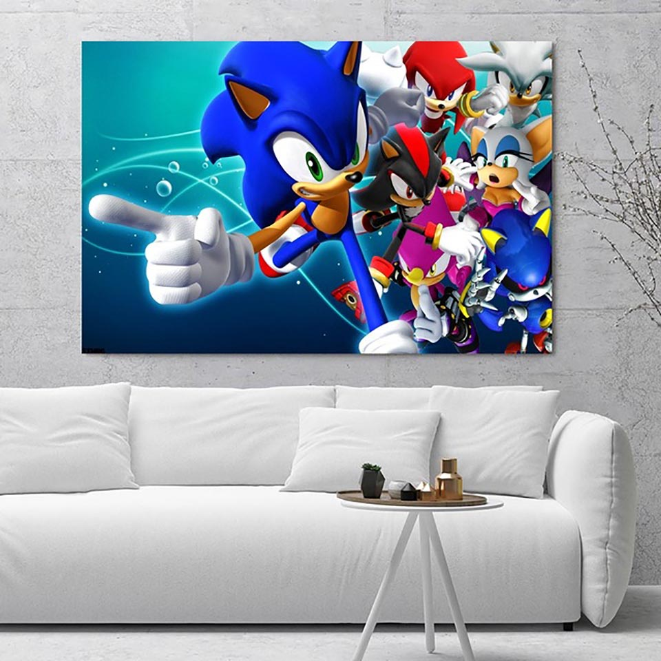 5d Diamond Wall Art Painting Embroidery Nice Sonic The Hedgehog Game Picture Full Square Drill Cross Stitch Bead Work Home Decor Diamond Painting Cross Stitch Aliexpress