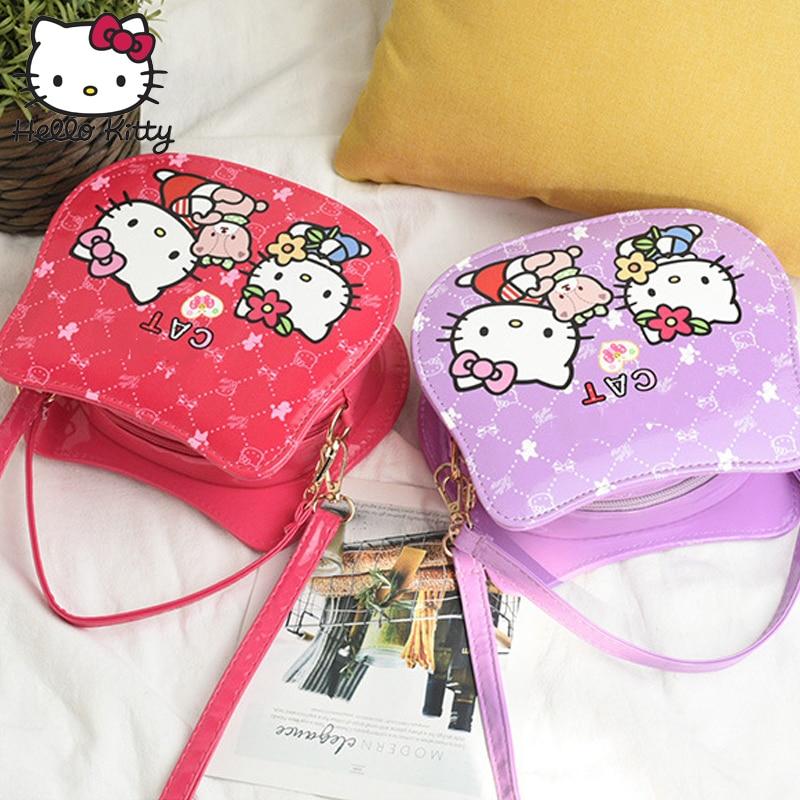 Hello Kitty 2019 Bag Hand Bags Fashion Single Shoulder Diagonal Bag Lovely Girls Cartoon Pink Kids SchoolBag Plush Backpack Bag
