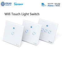 Sonoff T1 Wifi Light Switch 1 2 3 Gang Wireless Smart Home RF APP Touch Control