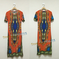 Бесплатная доставка 2015 новый женщины моды шелк молока длинное платье традиционные африканские одежды печати Dashiki платье для леди свободный размер