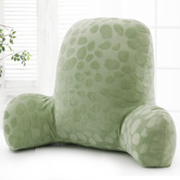 Solid Color Lumbar Pillow European Contracted Plush Fabric Throw Pillow Cushion Home Office Car Relax Soft Protect Waist Cushion