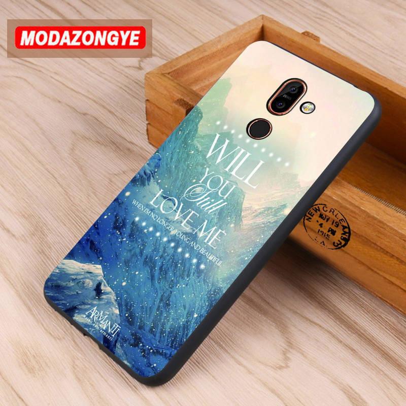 reputable site 18f20 a4906 US $3.99 5% OFF For Nokia 7 Plus Case Nokia 7 Plus Cover 6.0