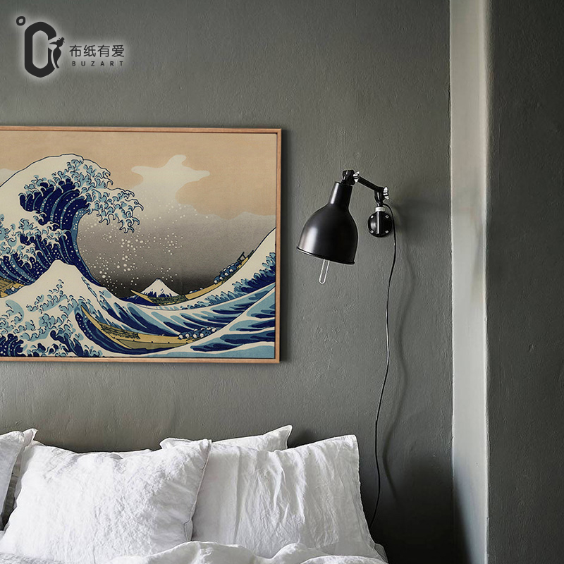 Mountain canvas Japanese ukiyoe home decoration painting classic art - Home Decor