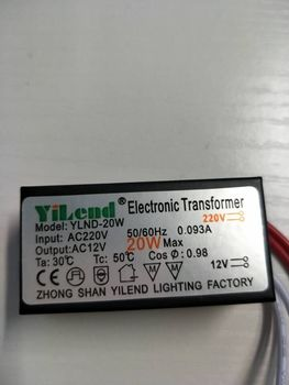 new DHL 100  pieces AC 220V to 12V 20W 0.99A LED Driver Electronic Transformer Power Supply for light bulbs transformer 220v 2 27a transformer 220v input isolation transformer 500va power supply transformer