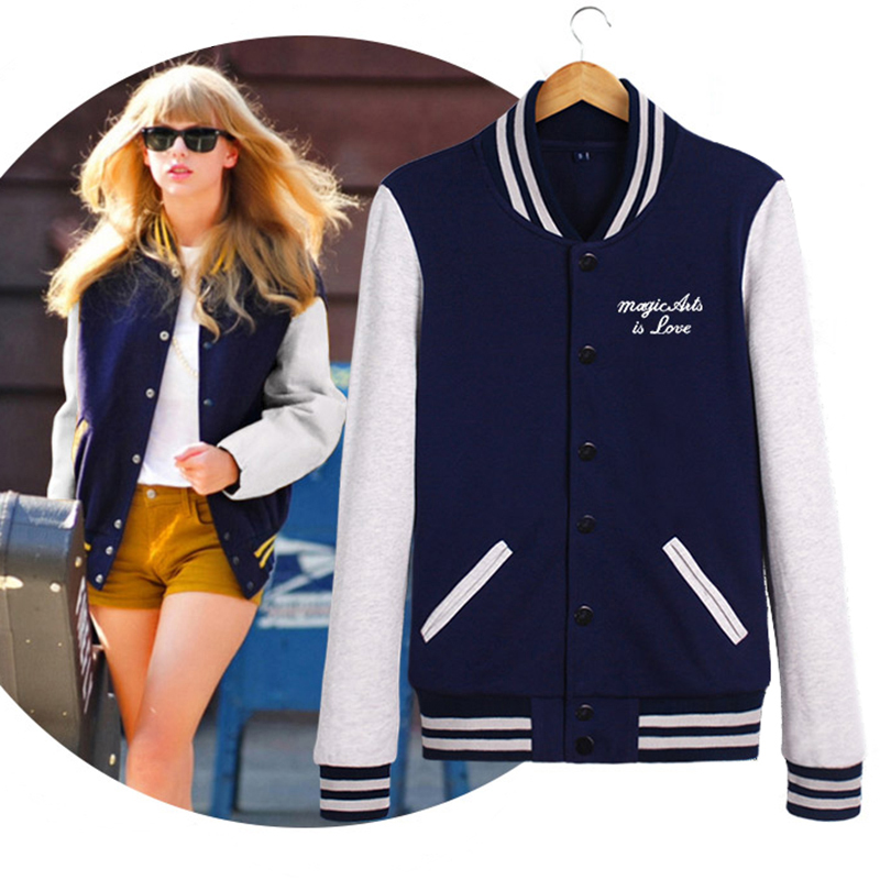 Very Splice Sleeves Stand Collar Uniform Couples Varsity Women's  MS83