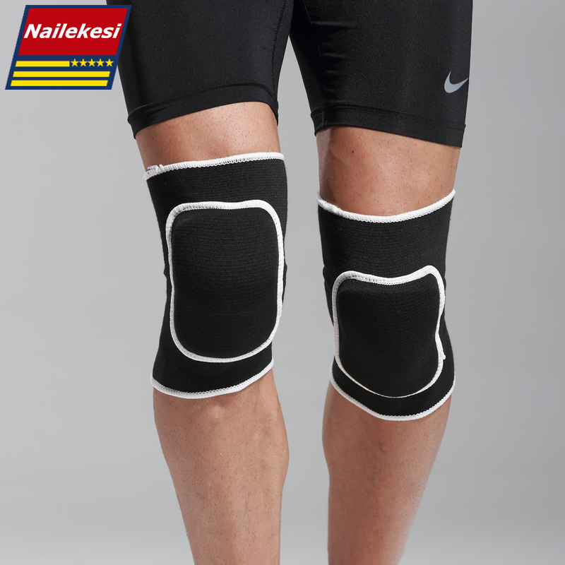 1 Pair 2 Pcs Sport Safety Football Volleyball Basketball KneePads Sponge Rubber Cotton Knee Support Pads Sport Support Kneepad