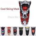 Chegada nova Warmer Inverno Ski Snowboard Moto Esporte Máscara Facial Pirates 3D Impresso Lenço Triangular Máscara de Esqui