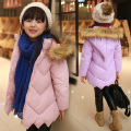 Girls Winter Cotton Velvet Padded Outerwear & Coats Brand Designer Children Clothing Girls Jackets Coat Thick Winter Jacket