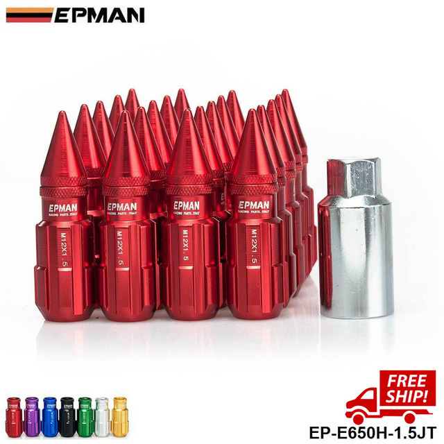 AUTHENTIC EPMAN WHEELS LOCK LUG WITH SPIKES M12X1.5 20PCS  JDM H FOR Nissan Infiniti Subaru EP-E650H-1.5JT-FS