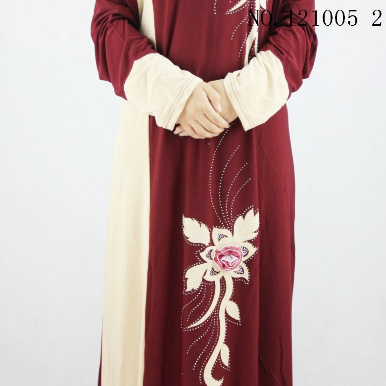 2018 fashion red print Muslim dress Women Abaya Middle East Long Robe Gowns Ramadan Dubai Arab Islamic Clothing in Islamic Clothing from Novelty Special Use