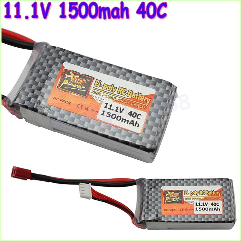 Venta al por mayor 100% Original ZOP Power LiPo bateria V 1500 s mAh 3 s 40C MAX 60C T Plug para RC Car Airplane Helicopter Part Dropship