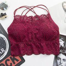 Women Lace Padded Bra Sexy Lace Floral Bralette Bras Girls Lingerie Wire Free Underwear