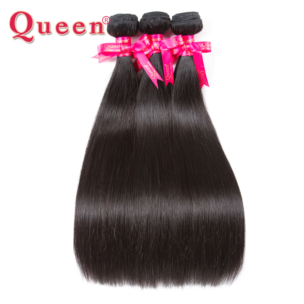 Queen Hair Products Brazilian Hair Weave Bundles Brazilian Straight Hair Remy Human Hair 3 Bundles Can