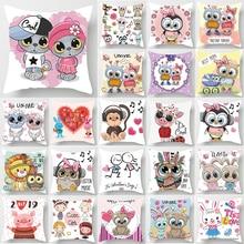 Hot sale cute lovers cartoon  pillow cases square Pillow case rabbit covers size 45*45cm