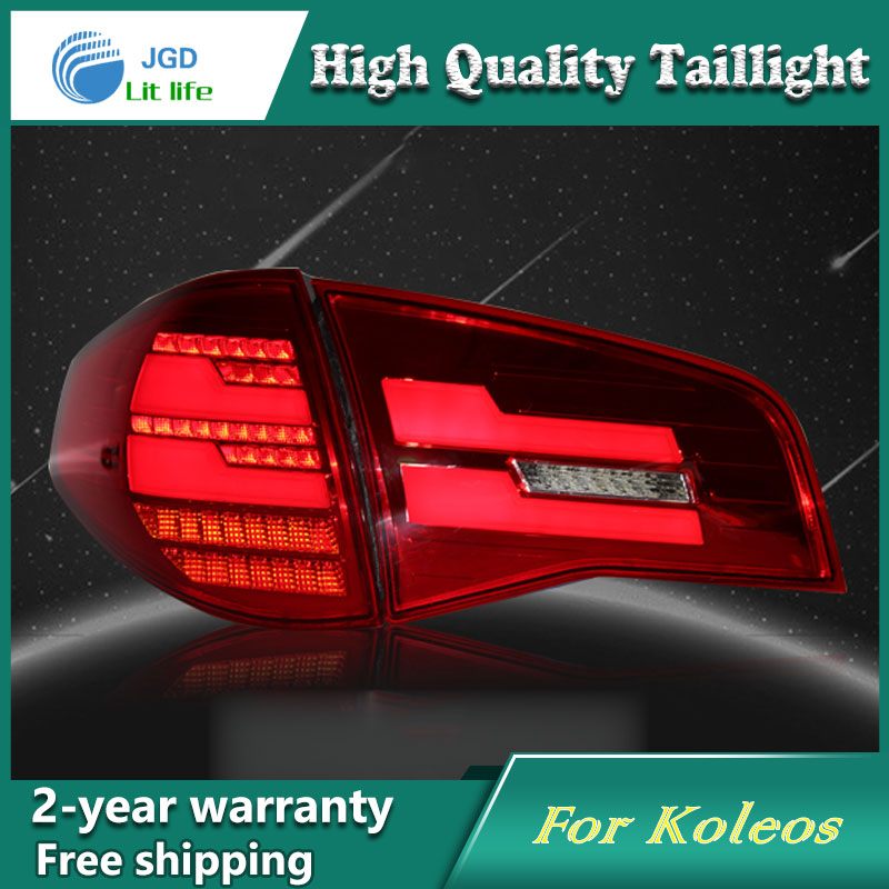 Car Styling Tail Lamp for Renault Koleos Tail Lights LED Tail Light Rear Lamp LED DRL+Brake+Park+Signal Stop Lamp car styling tail lamp for toyota corolla led tail light 2014 2016 new altis led rear lamp led drl brake park signal stop lamp