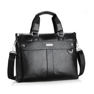 Image 5 - VORMOR 2020 Men Briefcase Business Shoulder Bag Leather Messenger Bags Computer Laptop Handbag Bag Mens Travel Bags