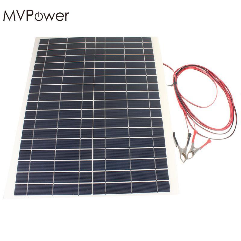 20w 12v solar panel charger high efficiency kit diy. Black Bedroom Furniture Sets. Home Design Ideas