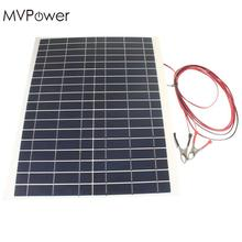 20W 12V Solar Panel Charger High Efficiency Kit Diy Photovoltaic Foldable Waterproof