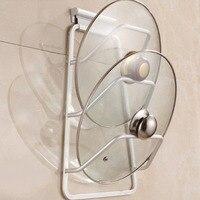 Nowy Aluminiowy Uchwyt Szafki Kuchenne Drzwi Pot Pan Pokrywką Przestrzeń Saver Montowany Na Ścianie Rack Organizator Przechowywania Przestrzeń Saver Hot Sprzedaż