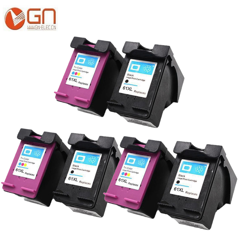 6 pieces (3 BK+3Colors) newest remanufactured for hp 61xl ink cartridge with chip for hp OfficeJet 2620, 4630, 4632, 4634, 4635 2pk for hp 61xl remanufactured ink cartridge bk