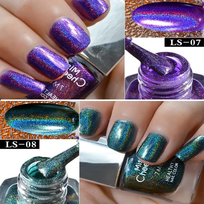holographic nail polish 1pc 7ml big bottle diamond Laser Symphony ...
