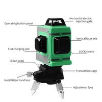 Laser Level 12 Lines 3D Level Self Leveling 360 Horizontal And Vertical Cross Super Powerful Green Laser Beam Line