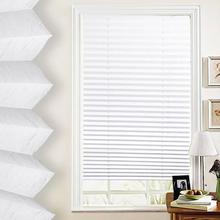 Anti-UV Window Blinds Pleated Original Pleated White Polyester Shade Curtains