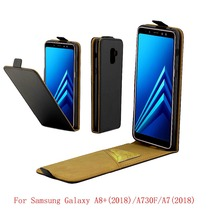For Samsung Galaxy A8 Plus A8+ A730FD Cover Luxury PU Leather Flip Case For Samsung Galaxy A7 2018 Vertical Open Down Up Cover стоимость