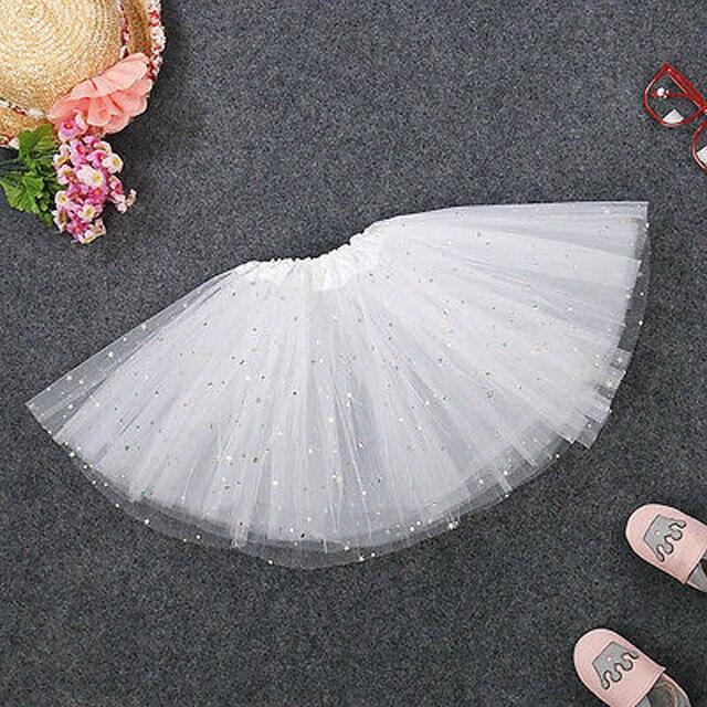Mới Thời Trang Bé Kids Cô Gái Công Chúa Stars Sequins Đảng Nhảy Múa Ba Lê Tutu Váy