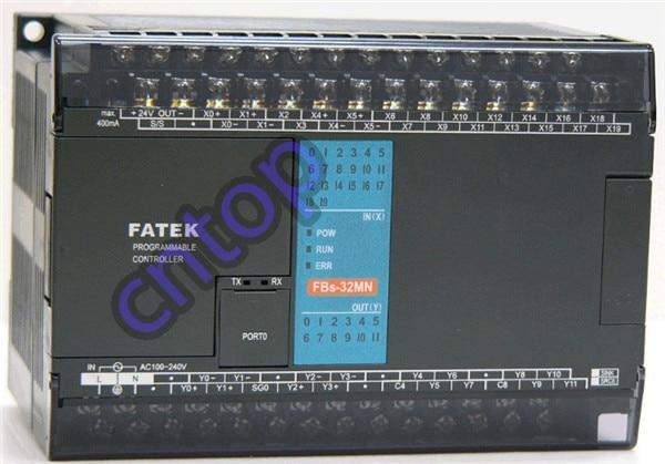 FBs-32MNT2-AC Fatek PLC AC220V 16 DI 8 DO transistor Main Unit New in box fbs 16xyr fatek plc 24vdc 8 di 8 do relay module new in box