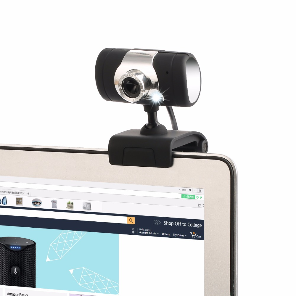 Webcam USB Built in sound absorption microphone High Definition Camera Web Cam 360 Degree MIC Clip on For Skype Yahoo Computer in Webcams from Computer Office