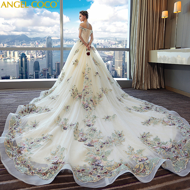 Maternity Dress Gown Wedding Party Pregnant Women Long Bride Wedding Palace Word Luxury Long Tailing Maternity Clothing