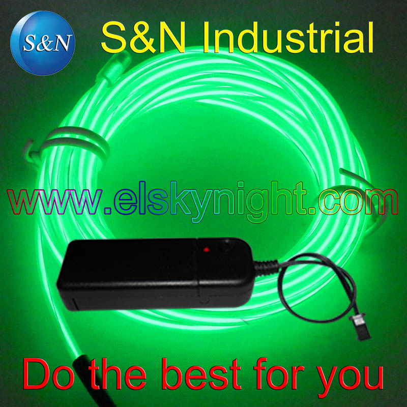 Green 4M Flexible Neon Light EL Wire Rope Tube With Portable Inverter 10 Colors For  Decoration Creative Usage+ Free Shipping