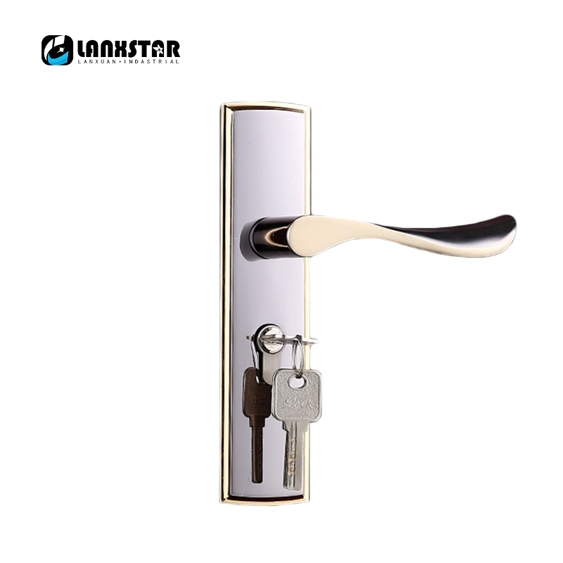 Large Amount 50 Y Double Axles Lock-body Wooden Door Lock Zinc Alloy Copper Lockcore Handle Locks manufacturers supply high quality zinc alloy handle lock luxury room door large lock body brass mute lockcore wooden door locks