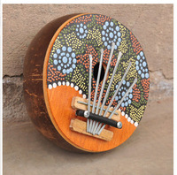 2017Southeast Asian Characteristic Wood Carving Indonesian Hand Coconut Shell Finger Instrument