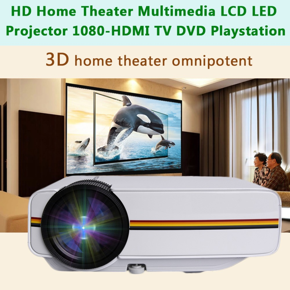 YG400 Mini Projector 1200 Lumens HD LED Video Home Theater Cinema Wired 1080P-HDMI Multimedia Player Digital Projector Beamer Проектор