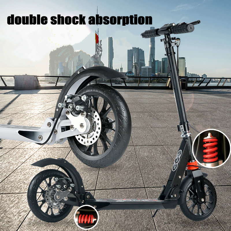 New Arrival Disck Brake Purple Adult Scooter with 20 4cm big PU Wheel Dual Shock Absorption Teens Scooter can load 150KG in Kick Scooters Foot Scooters from Sports Entertainment