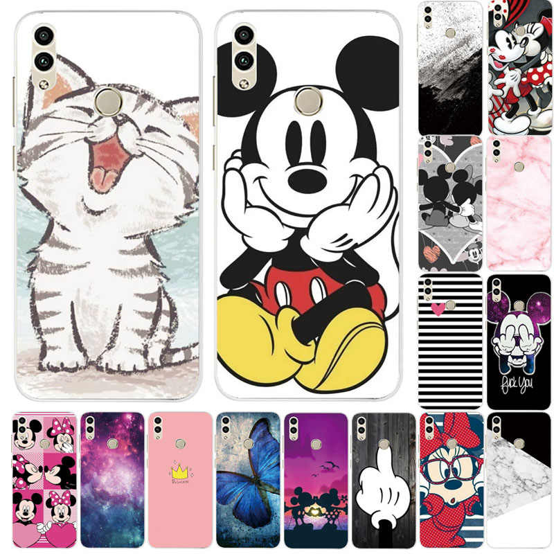 Cartoon Silicone Phone Case For Huawei Honor 8C Honor8C Case TPU Fashion Soft Cover For Huawei Honor 8C Case Cover Fundas