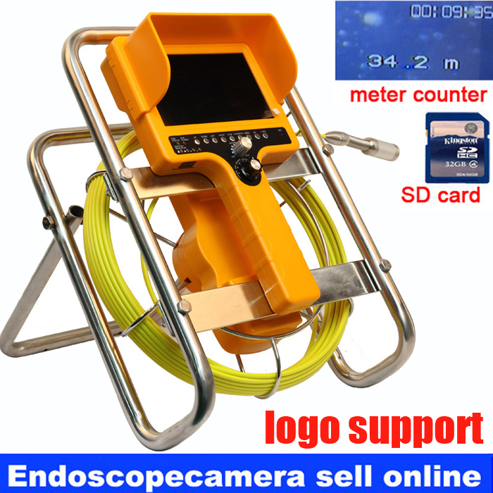 Drain Sewer Wall Cave Pipe Inspection DVR Camera Pipe Endoscope Borescope 30m Cable meter counter Pipeline Sewage Snake Camera