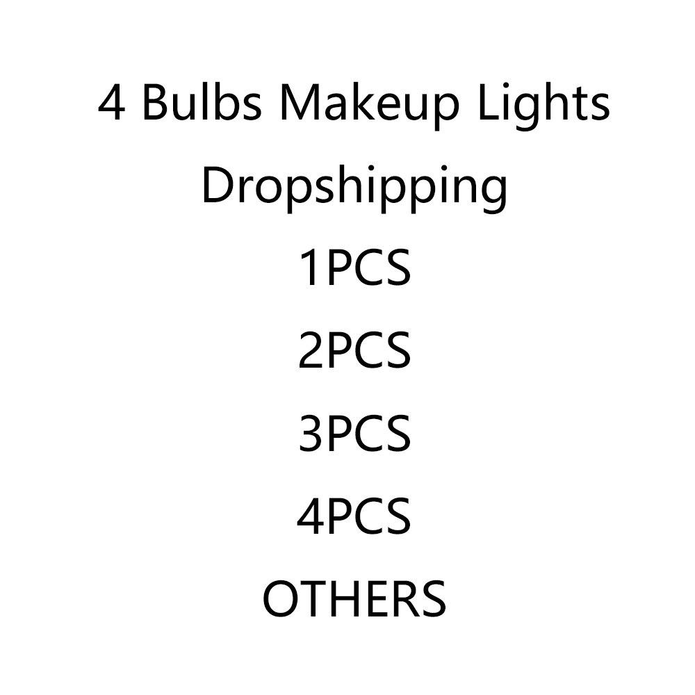 Enlace especial de maquillaje espejo de luz póngase en contacto con el servicio al cliente