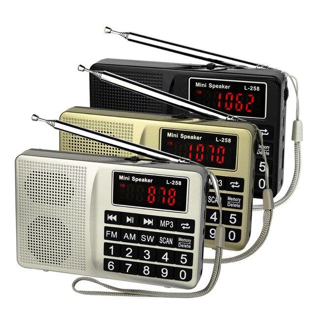 3 Цветов Портативный Радиоприемник FM/AM/SW Радио Басов MP3 Музыкальный Плеер Мультимедиа Mini Speaker Recorder Y4405