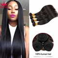 Jet Black Indian Straight Hair 4 Bundles 7A Indian Straight Virgin Hair 4 Bundles Raw Indian Virgin Hair 4 Bundles Human Hair