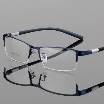 d2cf4b6ed3 EOOUOOE hombres de aleación de óptica Gafas Semi-sin montura receta  Semi-sin montura Gafas miopía TR90, Gafas de sol hombre Gafas lesebrille