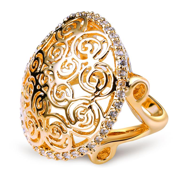 Gold Filled Jewelry Natural Stone Ring Wedding Designer