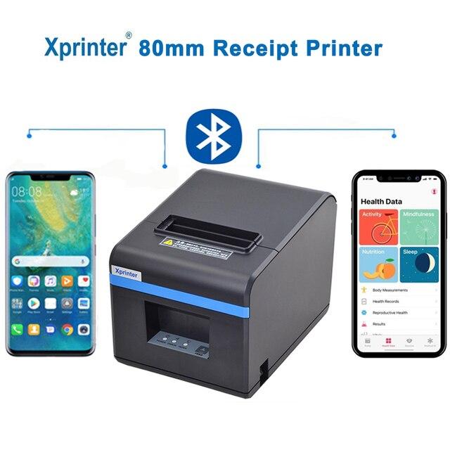 80mm drukarka pokwitowań termicznych drukarka POS Port USB Bluetooth Ethernet z automatyczną obcinarką obsługa androida, iOS, tabletu iPad