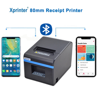 Xprinter 80mm thermal Receipt printer Bluetooth/USB Port kitchen POS Printer with Auto Cutter For Anroid iOS Mobile Phone