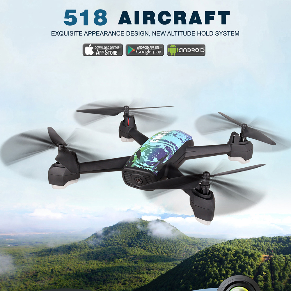 JXD 518 GPS RC Drone with 2.0MP Wifi Wide Angle Camera RC helicopter rc drones with camera hd drone professional fpv quadcopter 360 degree 170 wide angle lens sh5hd drones with camera hd quadcopter rc drone wifi fpv helicopter hover flip live video photo