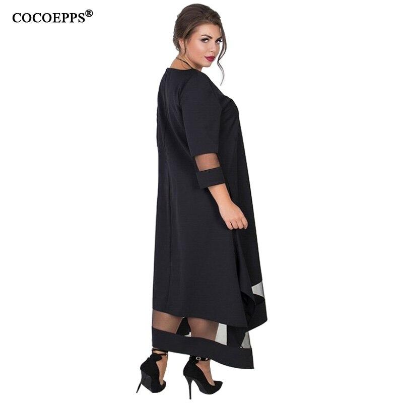 A Line 5xl 6xl Plus Size Winter Dress Mesh Elegant Women Dress Large Size Long Maxi Dress Evening Party Big Size vestidos 19 6